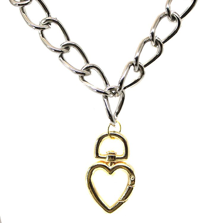 COLAR CORRENTARIA LOVE SILVER/GOLD