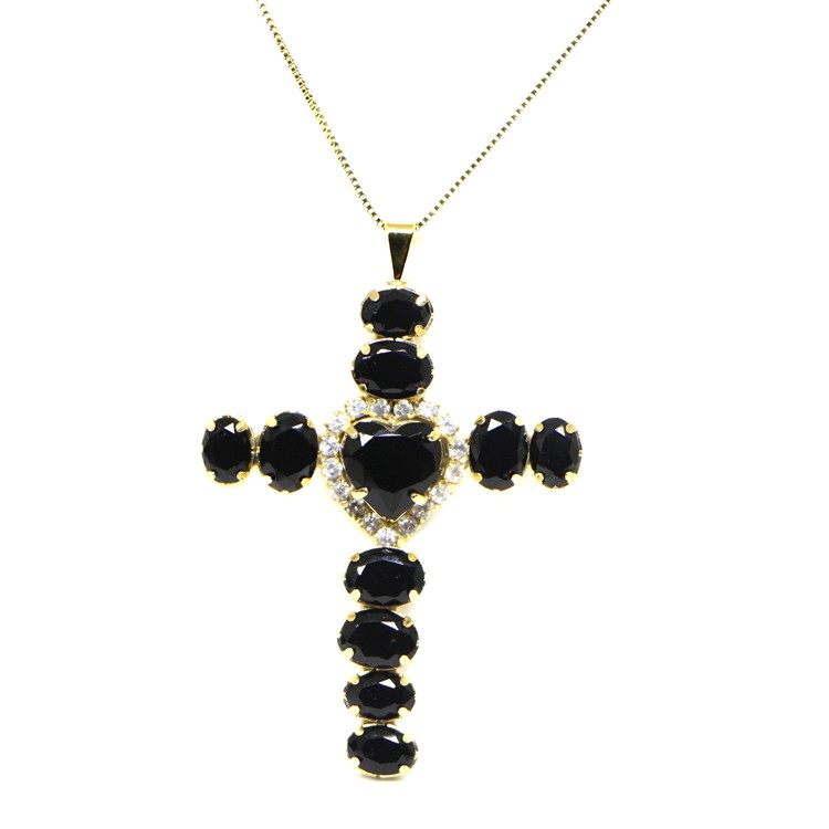 COLAR CRUCIFIXO CATHERINE BLACK GLAM