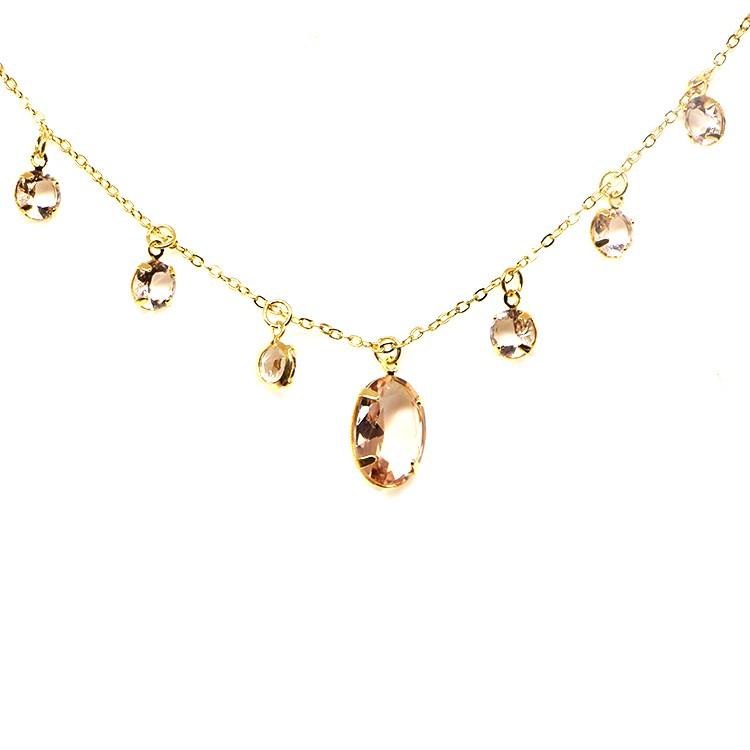 Colar Medieval Gotas Glow Peach Gold