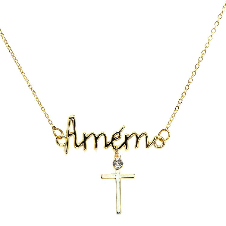 COLAR PINGENTE AMÉM GOLD