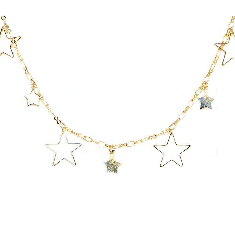 COLAR STAR MOON GOLD
