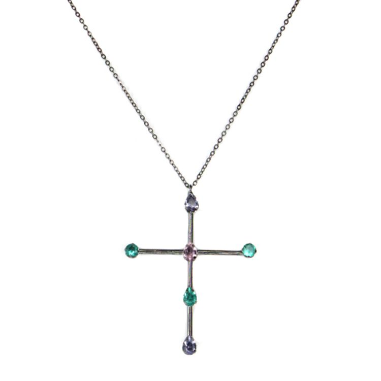 CRUCIFIXO FENDI COLORS GRAFIT
