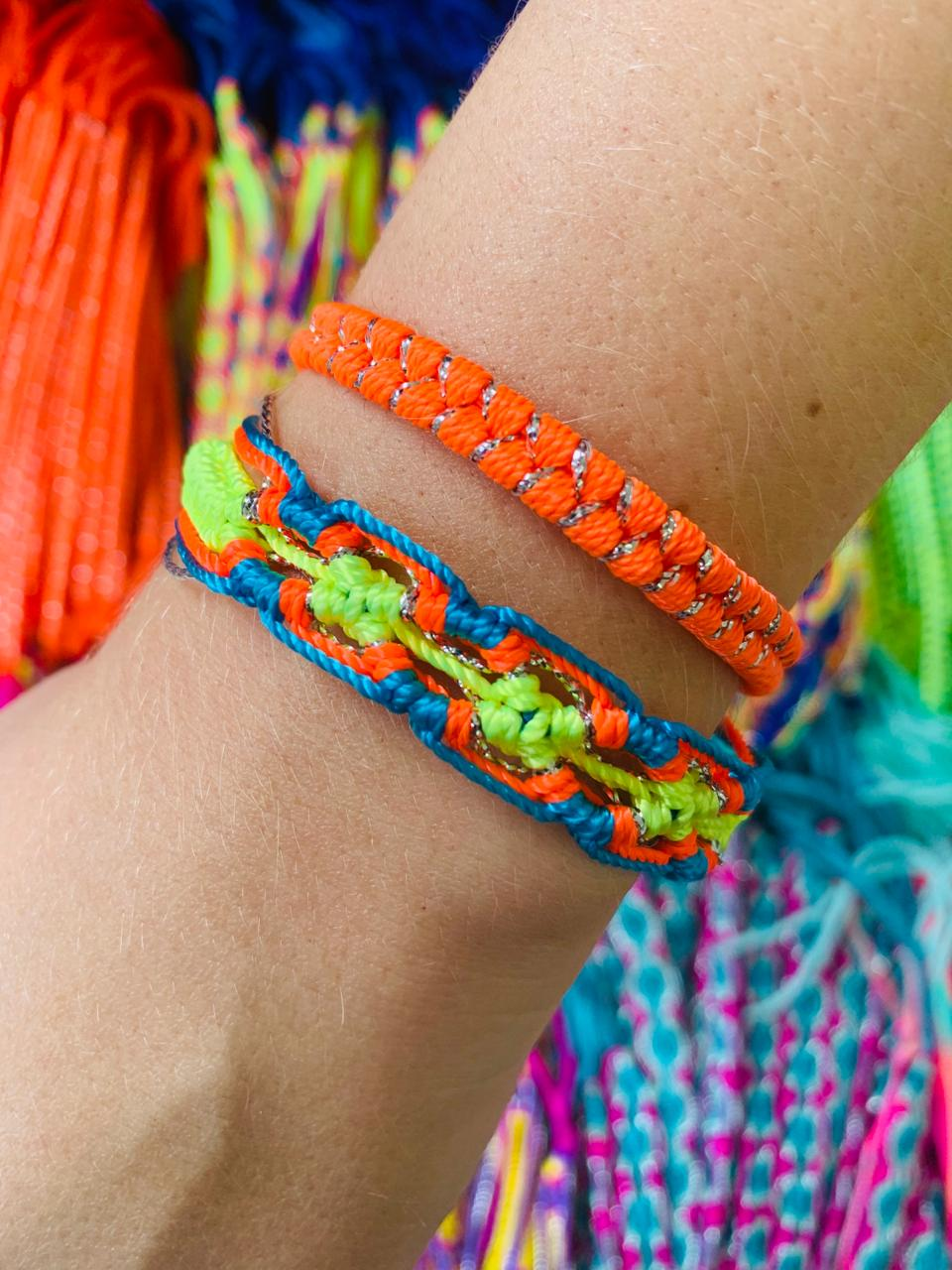 KIT 2 PULSEIRAS COLORS SUMMER ORANGE