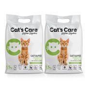 Kit 02 Granulado Sanitário Higiênico para Gatos Cat's Care