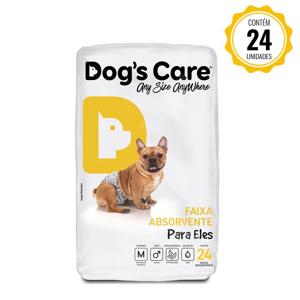 Fralda Faixa Higiênica para cães Macho Dog's Care - M - 24 Unidades
