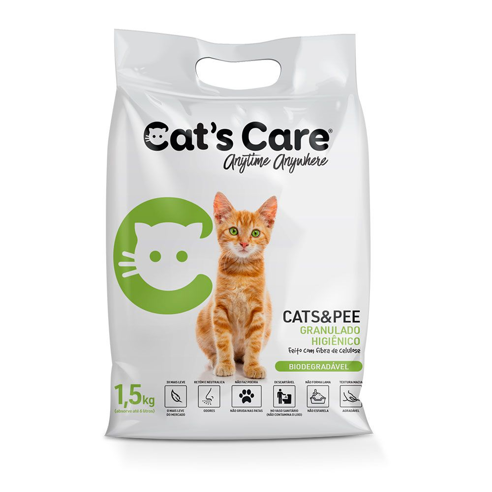 Granulado Higiênico para Gatos Cat's Care