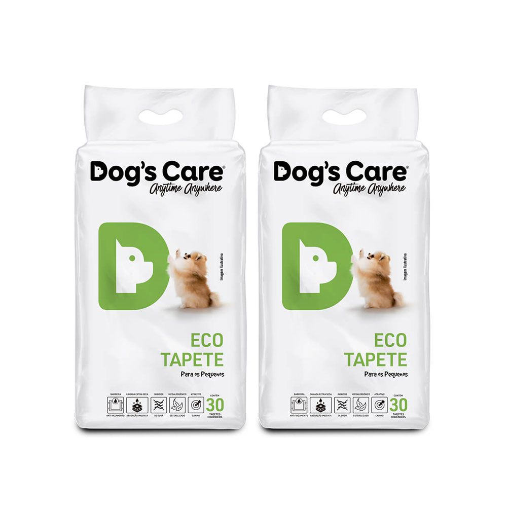 Kit 02 Eco Tapete Higiênico Pequeno Porte Dog's Care