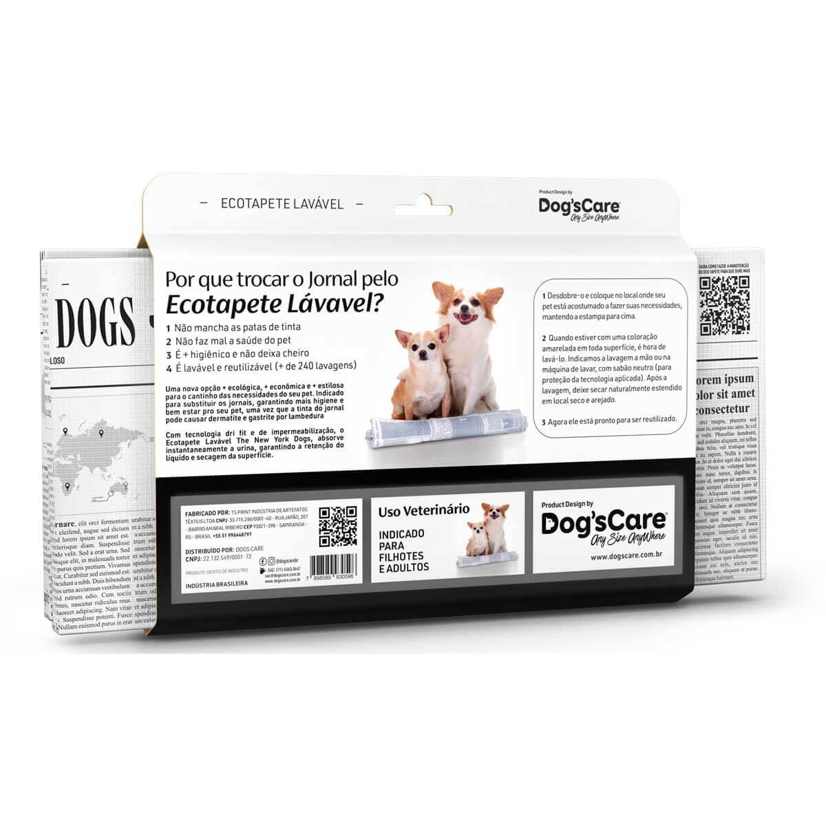 Kit 03 The New York Dogs Eco Tapete Higiênico Lavável Dog's Care