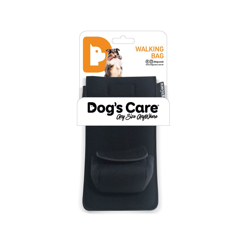 Kit Passeio Walking Bag e BioBag Cata Caca Dog's Care