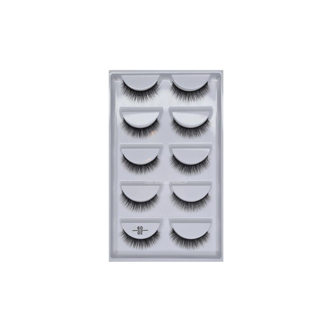 Caixa de cílios postiços estilo mink n. 09