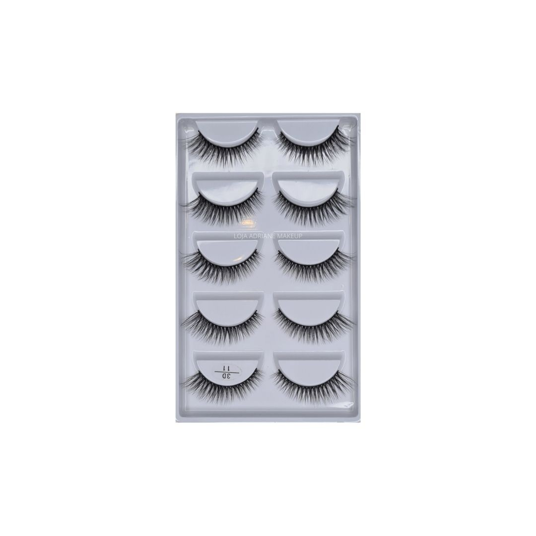 Caixa de cílios postiços estilo mink n. 11