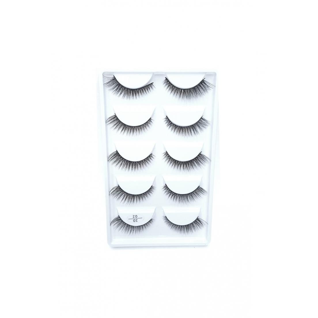 Cílios postiços 5 pares Adriane Makeup 3D n 02