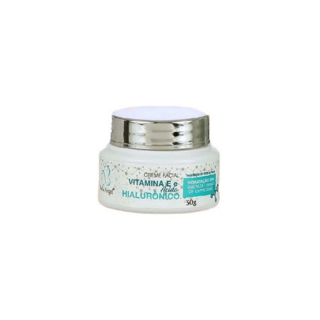 Creme facial ácido hialurônico e vitamina E Belle Angel