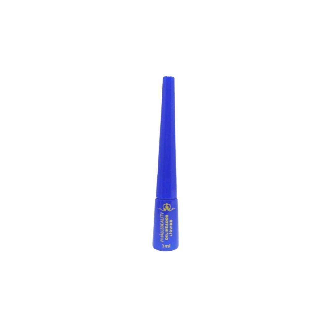 Delineador líquido azul cor 5 Phallebeauty Cosmetics