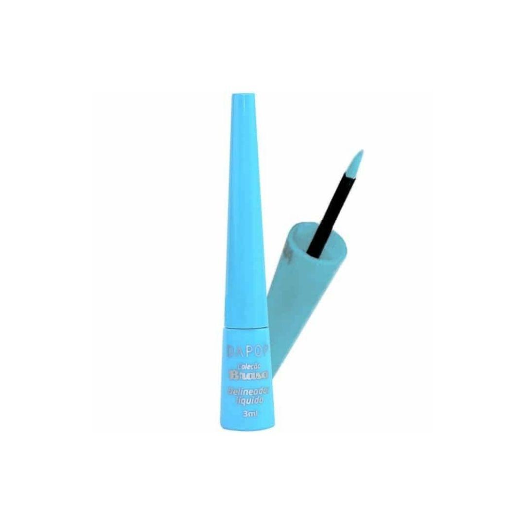 Delineador líquido coleção brasa azul claro DaPop