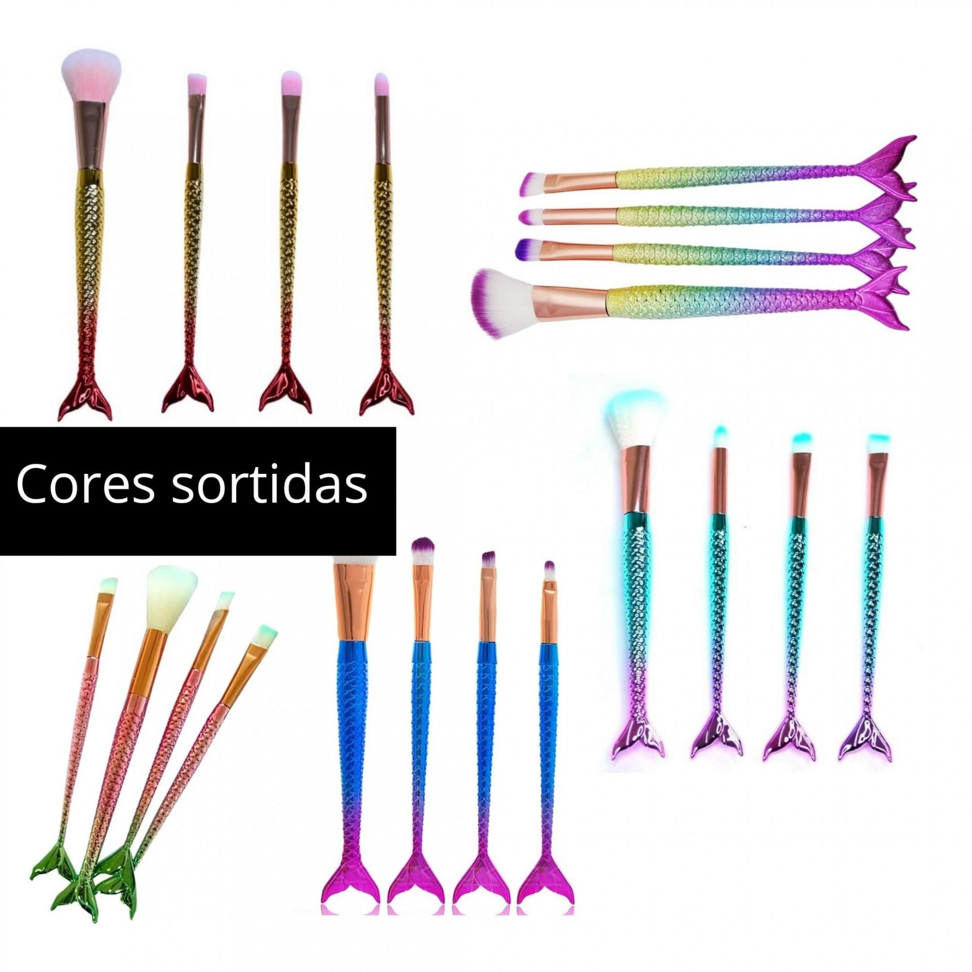 Kit com 04 pinceis Sereia