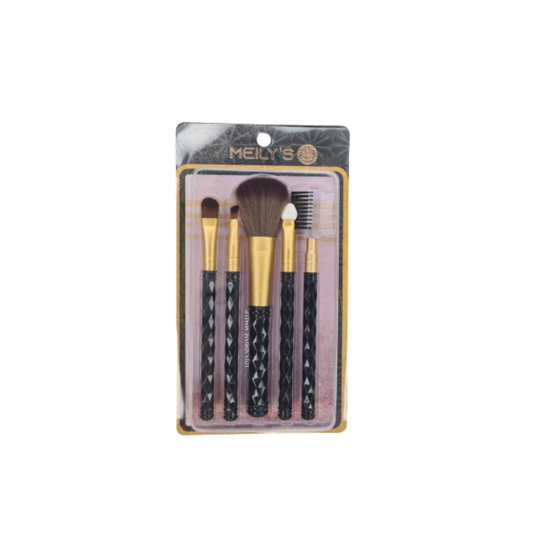 kit com 05 pinceis MKP-159 Meily's