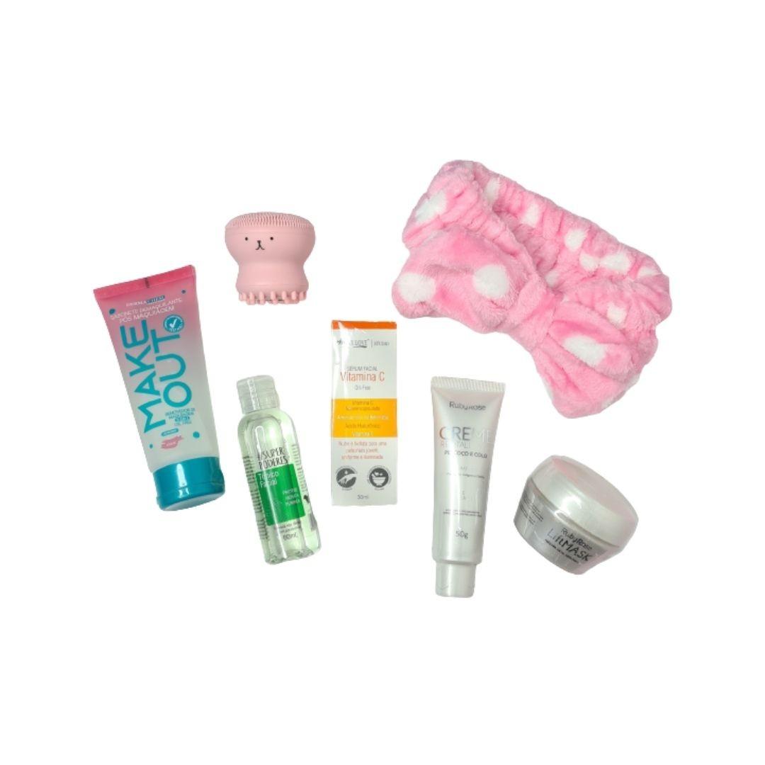 Kit de skincare para pele normal e mista