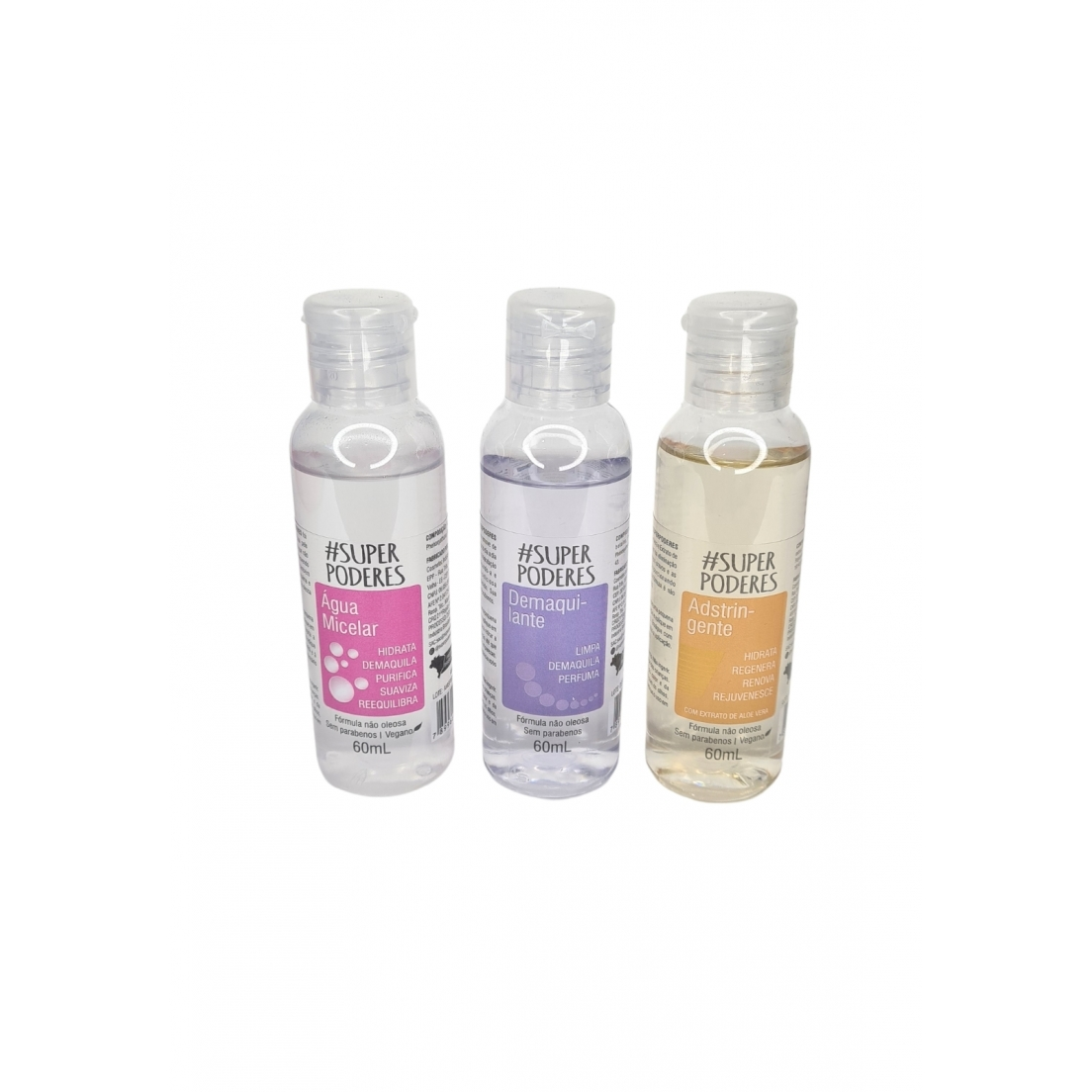 Kit limpeza agua micelar demaquilante tônico Super Poderes 01