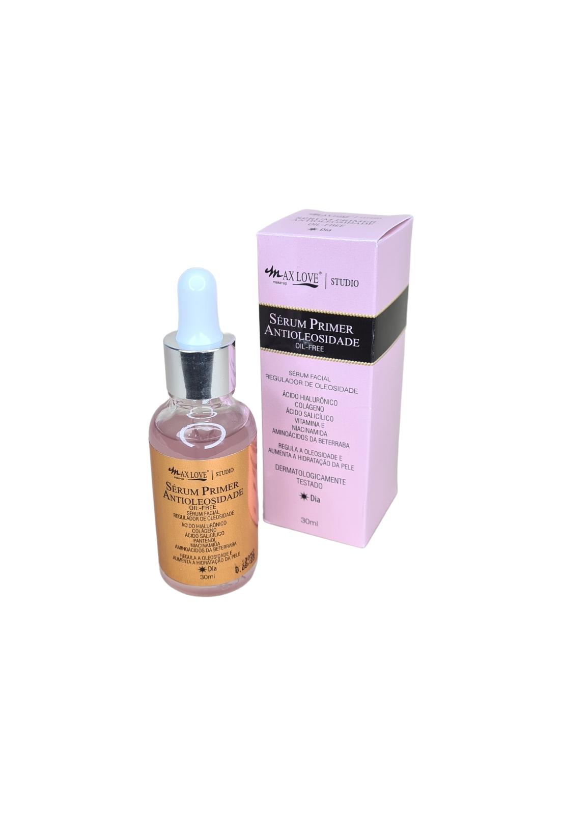 Kit sérum facial antioleosidade e hidratante Max Love