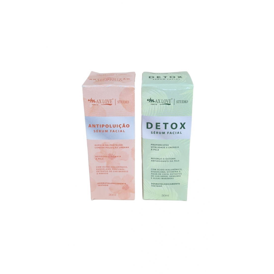 Kit sérum facial antipoluição e detox Max Love