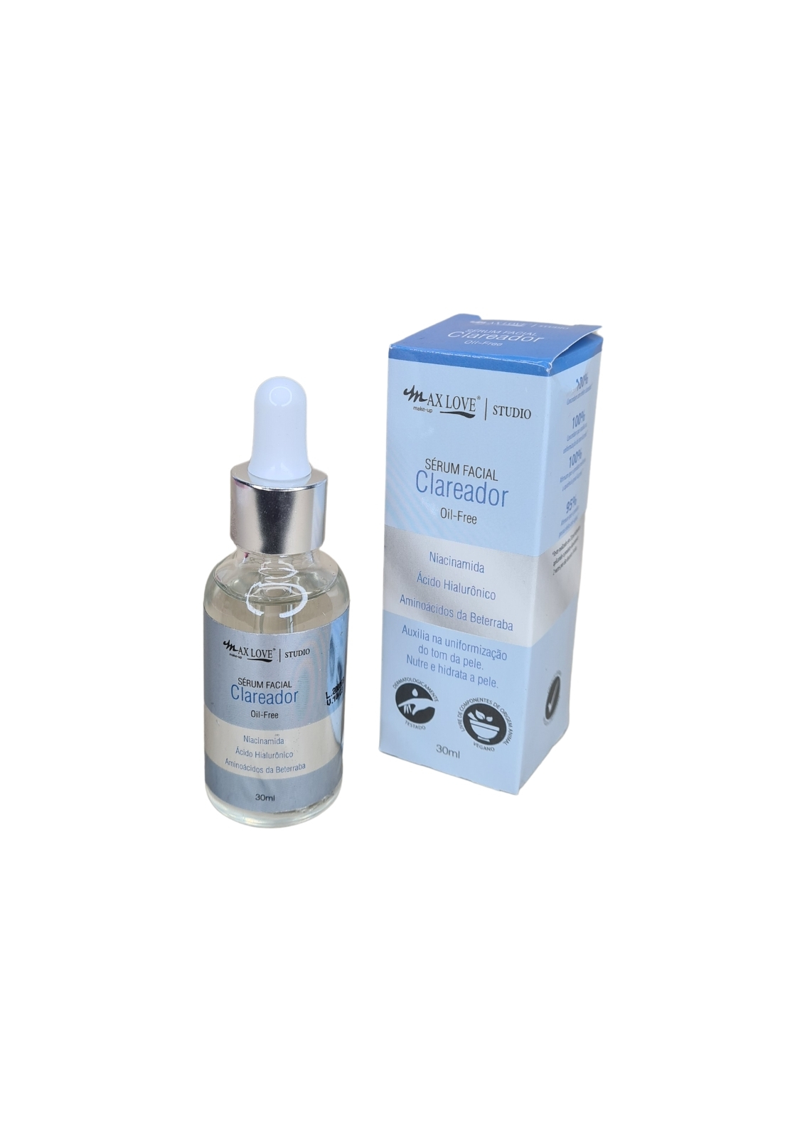 Kit sérum facial clareador e vitamina C Max Love