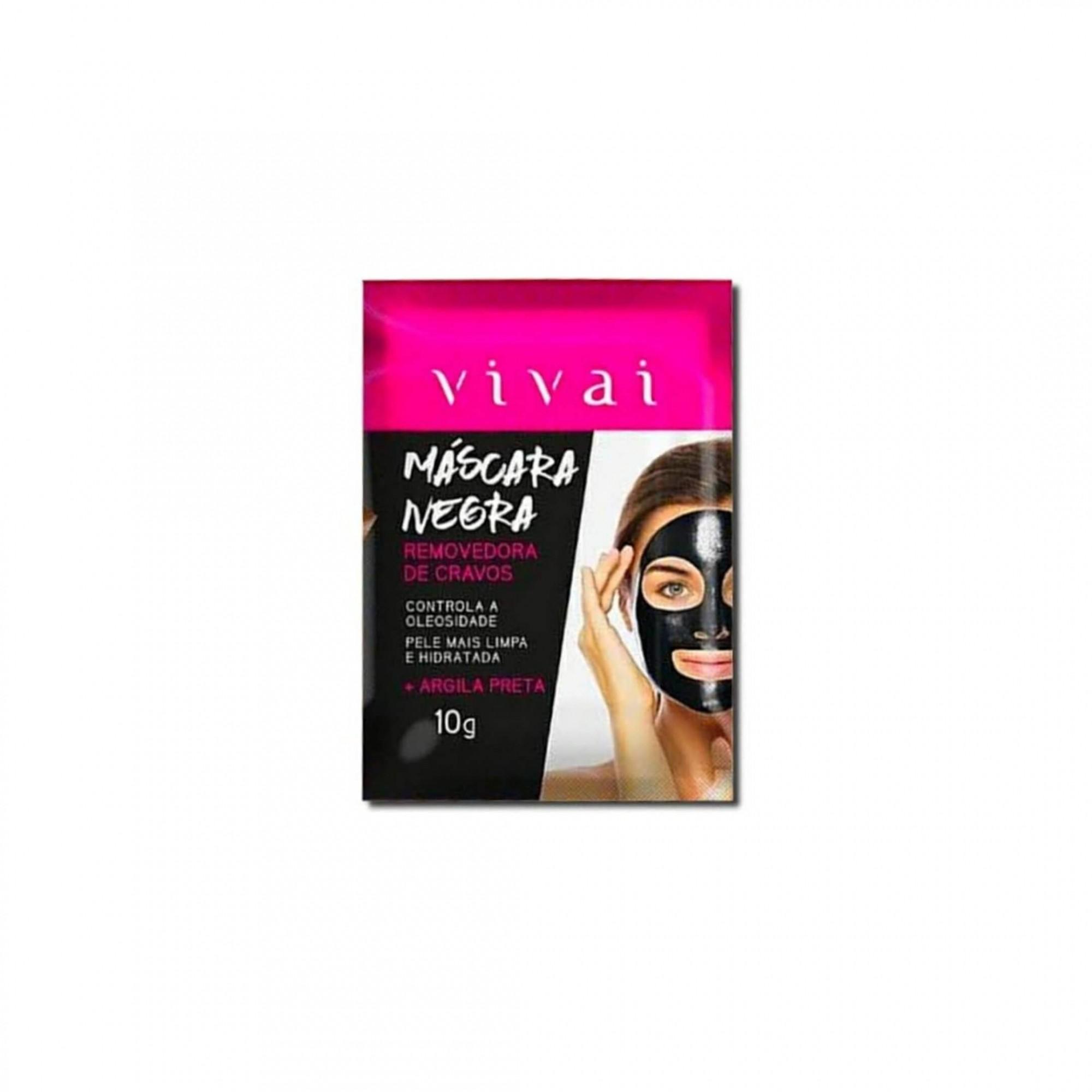 Máscara negra removedora de cravos Vivai