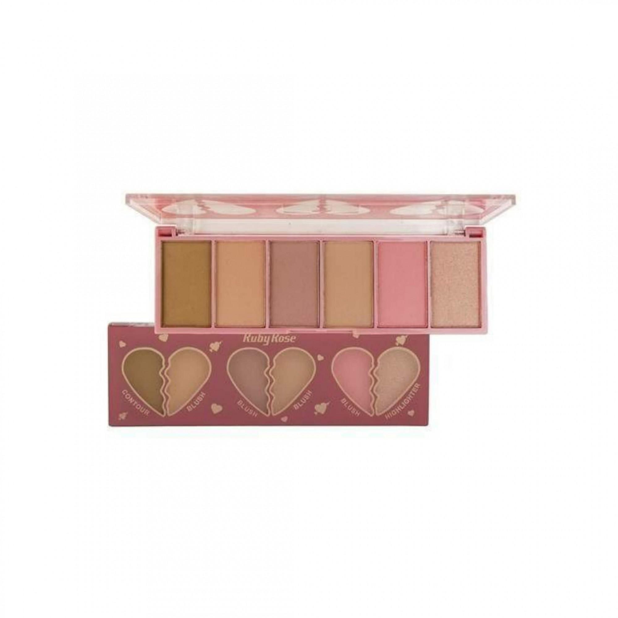 Paleta de contorno Contour blush Highlighter Ruby Rose
