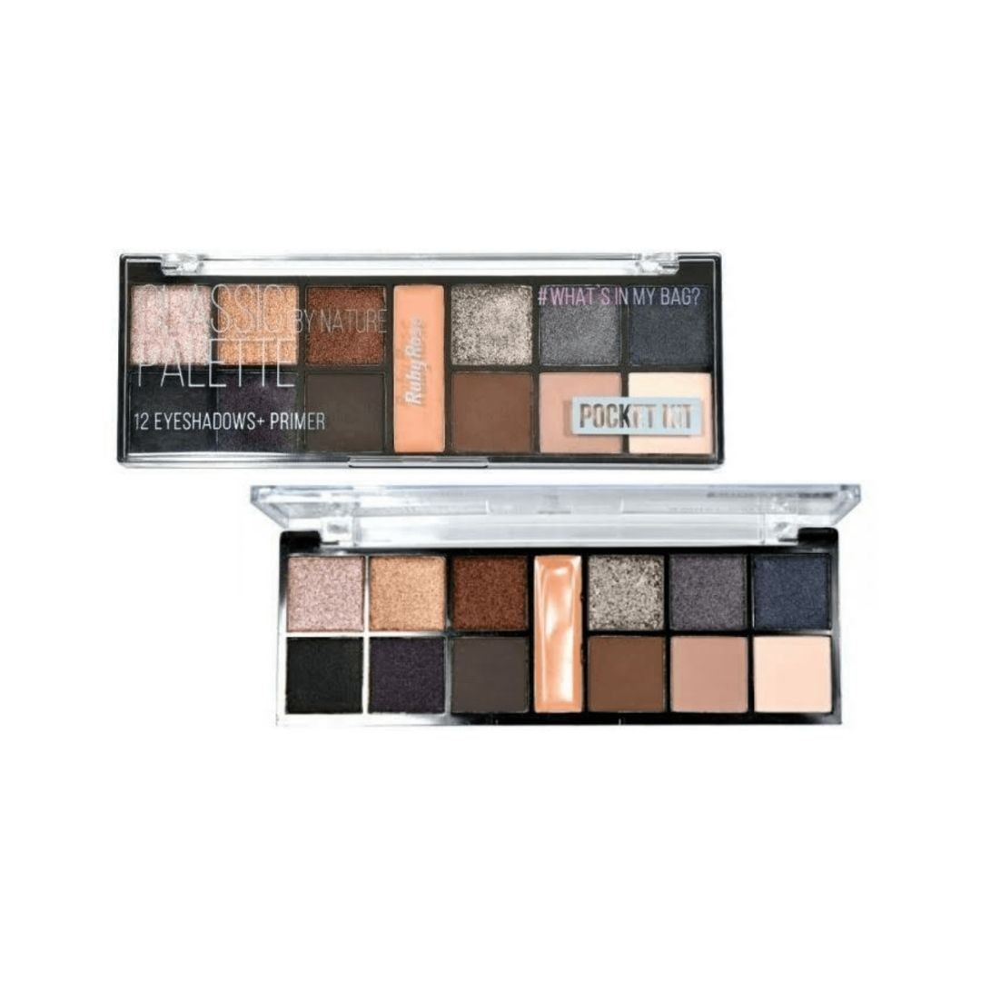Paleta de sombras Classic by Nature Ruby Rose