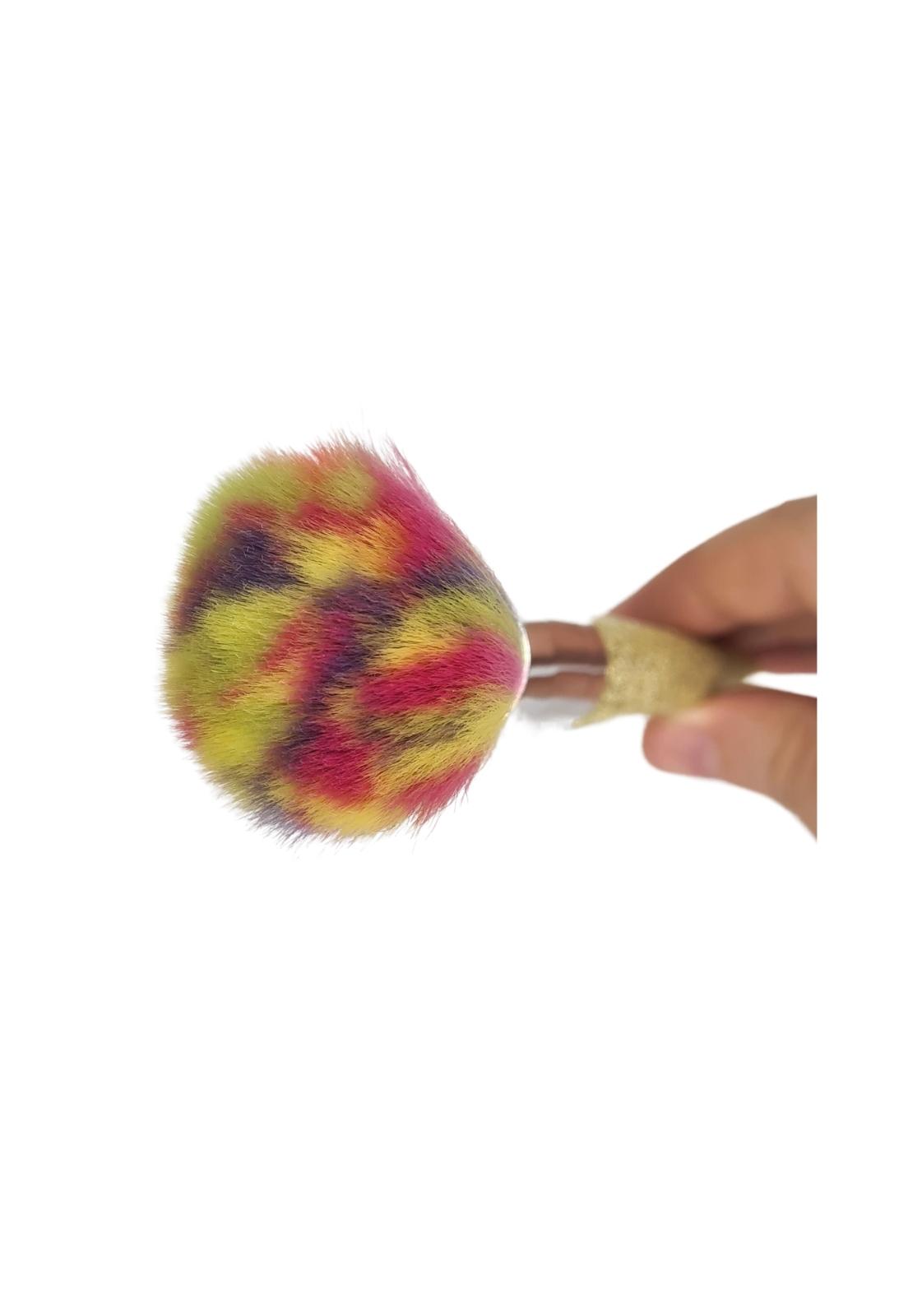 Pincel para pó e blush arco iris Mandala