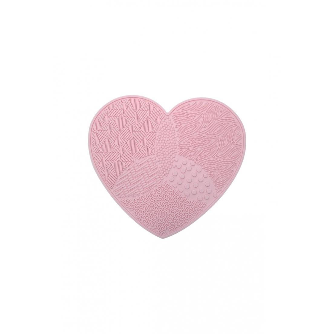 Tapete de silicone para limpar pincéis formato coração