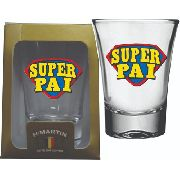 Copo Shot Decorado Super Pai 60 ml