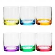 Conjunto 6 Copos Baixos De Cristal Color- Bohemia