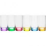 Conjunto 6 Copos Color Cristal Bohemia