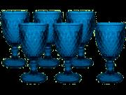 Conjunto 6 Taças Bico de Abacaxi Azul