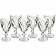 Conjunto 6 Taças para Água Diamond