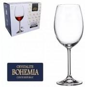 Conjunto com 6 Taças de Cristal Bohemia com Titanium 580 ml