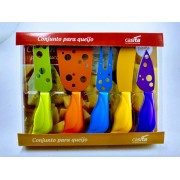 Conjunto para Queijo 5 Peças coloridas