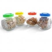 Conjunto Potes de Vidro para Temperos 4 peças