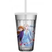 Copo Americano Frozen 2 com Tampa e Canudo 450 ml