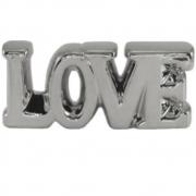 Enfeite Cerâmica Love Prata