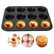 Forma Assadeira Cupcake 12 Cavidades Antiaderente