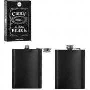 Garrafa Cantil De Bolso Inox Black Para Bebidas 224ml