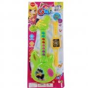 Guitarra Musical com Relógio