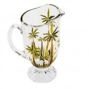 Jarra Palm Tree Handpaint Cristal Chumbo 1,5l