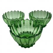 Jogo 6 Bowl em Vidro Verde Para Sobremesa