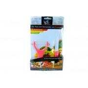 Kit Ceramica 1 Faca e 1 Descascador Rosa