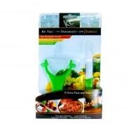 Kit Ceramica 1 Faca e 1 Descascador Verde