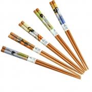 Kit Hashi 5 Pares Bambu Modern Gueixas