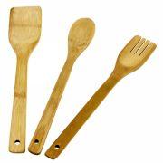 kit Pegadores de Bambu 3 Peças